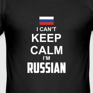 I cant Keep Calm in Russian - Men's Slim Fit T-Shirt