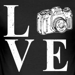 I LOVE PHOTOGRAPHY - Herre Slim Fit T-Shirt