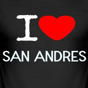 I LOVE SAN ANDRES - Männer Slim Fit T-Shirt