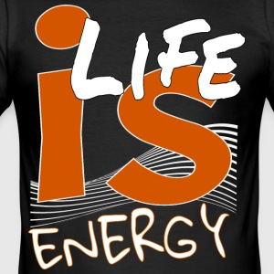 energi - Slim Fit T-shirt herr