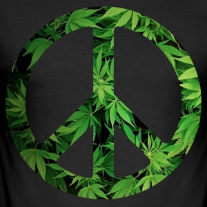 Cannapeace - Slim Fit T-skjorte for menn