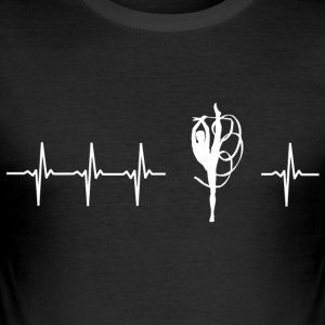 I love twirling (twirling heartbeat) - Men's Slim Fit T-Shirt
