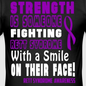 Rett Syndrom Awareness! Fighting med et smil! - Herre Slim Fit T-Shirt