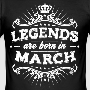 Legends are born in March - Männer Slim Fit T-Shirt