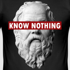 KNOW NOTHING SOCRATES - Maglietta aderente da uomo
