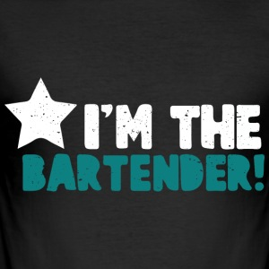 I'm the bartender ... cool sayings - Men's Slim Fit T-Shirt
