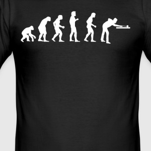 Human EVOLUTION BILLARD - Men's Slim Fit T-Shirt