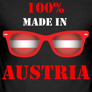 100% MADE IN AUSTRIA - Slim Fit T-skjorte for menn
