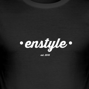 Enstyle bag - Slim Fit T-skjorte for menn