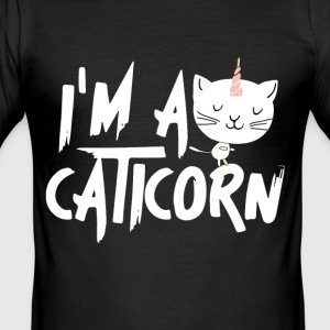 Caticorn - Männer Slim Fit T-Shirt