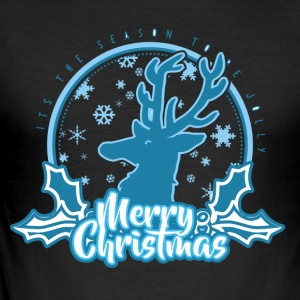 Merry Christmas rendier Rudolf Rudolph - slim fit T-shirt