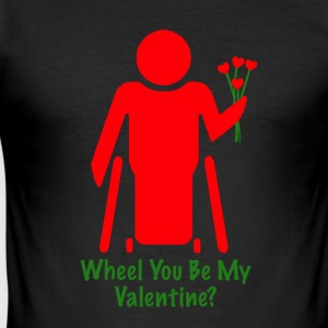 Valentine1 - Männer Slim Fit T-Shirt