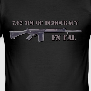 fn fal fan t shirt 7,62 mm for demokrati - Herre Slim Fit T-Shirt