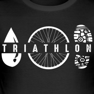 Triathlon Symbole - Männer Slim Fit T-Shirt
