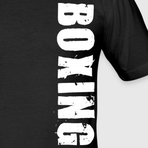 Boxing vertical white - Men's Slim Fit T-Shirt