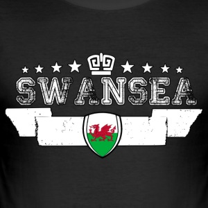 Swansea - Männer Slim Fit T-Shirt