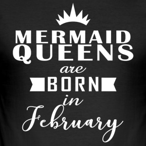Mermaid Queens februar - Slim Fit T-skjorte for menn