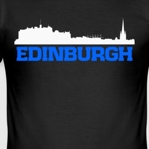 Edinburgh Schottland Skyline Tee - Männer Slim Fit T-Shirt