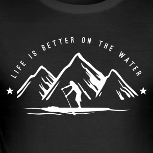 Stand UP Paddle Mountain Man - Männer Slim Fit T-Shirt