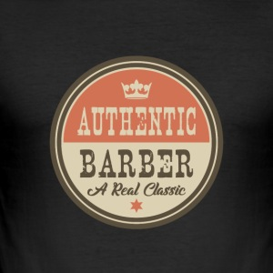 AUTHENTIC BARBER - Raksalong - Slim Fit T-shirt herr