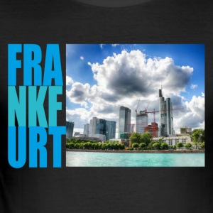 Frankfurt, Skyline - Slim Fit T-skjorte for menn