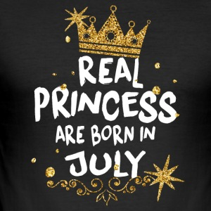 True Princesses are born in Julie! - Men's Slim Fit T-Shirt