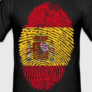 SPANIEN / SPAIN FINGERABDRUCK - Männer Slim Fit T-Shirt