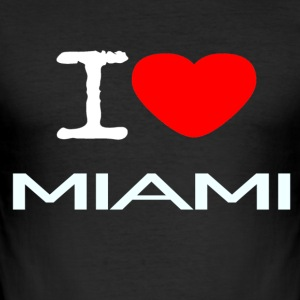 I LOVE MIAMI - Slim Fit T-skjorte for menn