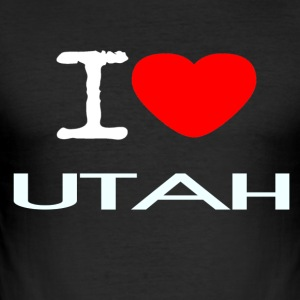 I LOVE UTAH - Männer Slim Fit T-Shirt