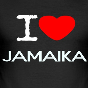 I LOVE JAMAICA - Herre Slim Fit T-Shirt