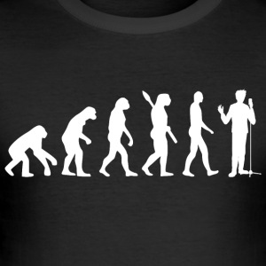 Evolution sang sangere sangeren synger w - Slim Fit T-skjorte for menn
