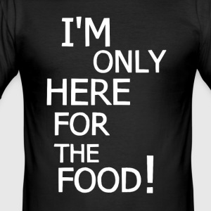 Only here for the food! - Herre Slim Fit T-Shirt