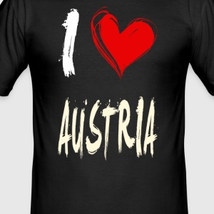 I love austria - Männer Slim Fit T-Shirt