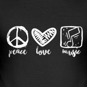 Peace Love Music - Music Passion - Männer Slim Fit T-Shirt