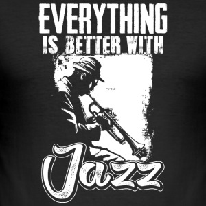 I love Jazz - Männer Slim Fit T-Shirt
