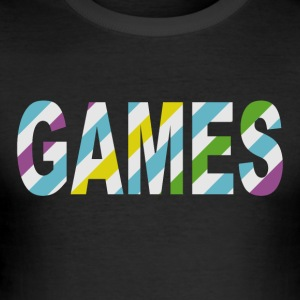 Game Stripes - Männer Slim Fit T-Shirt