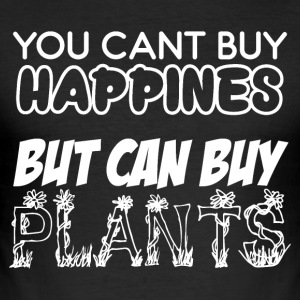 Cant buy Happiness - Plants do the job - Men's Slim Fit T-Shirt