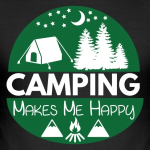 Camping Makes Me Happy - Men's Slim Fit T-Shirt
