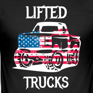 Lifted Trucks tuned offorad jeep cars - Men's Slim Fit T-Shirt