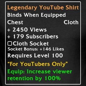 Legendariske YouTube Shirt - Herre Slim Fit T-Shirt