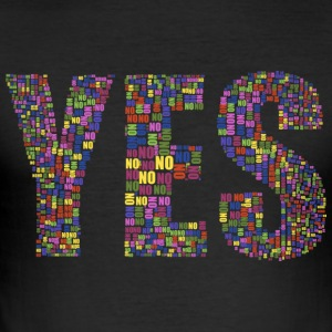 YES - YES - Men's Slim Fit T-Shirt