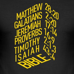 Bible verses - Men's Slim Fit T-Shirt
