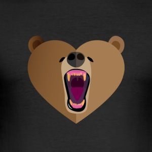Grizzly Kærlighed - Herre Slim Fit T-Shirt