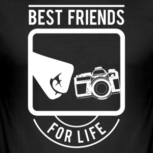 Best Friends for Life Camera - slim fit T-shirt