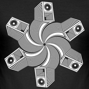 Tekno 23 Spiral Speaker - Men's Slim Fit T-Shirt