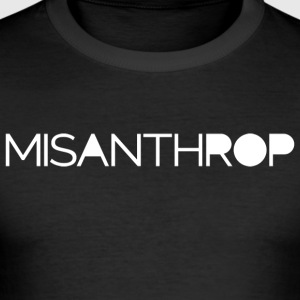 Misanthrop - Männer Slim Fit T-Shirt