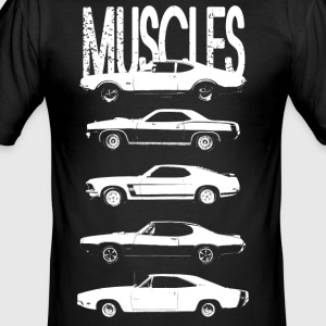Muscles cars - Men's Slim Fit T-Shirt
