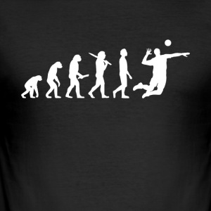 Volleyball Player Evolution - Slim Fit T-skjorte for menn