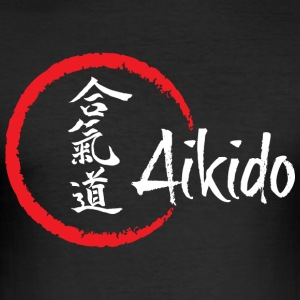 Aikido for black - Men's Slim Fit T-Shirt