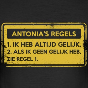 Antonia regler. Original gåva. - Slim Fit T-shirt herr